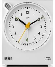 Braun BNC004WHWH Voice Control Alarm Clock - White
