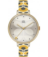 Orla Kiely OK2136 Ladies Ivy Yellow Leather Strap Watch