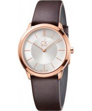 Calvin Klein K3M226G6 Minimal Brown Leather Strap Watch