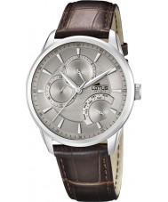 Lotus 15974-2 Mens Grey Brown Multifunction Watch