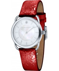 Klaus Kobec KK-10010-02 Ladies Evelyn Red Embross Pattern Leather Strap Watch
