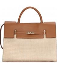 Fiorelli FH8639-TANRAFFIA Ladies Harlow Tan Raffia Tote Bag