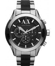 Armani Exchange AX1214 Mens Black Silver Chronograph Sports Watch