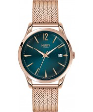 Henry London HL39-M-0136 Ladies Stratford Mallard Green Rose Gold Watch