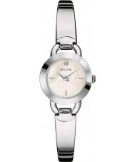 Bulova 96P154 Ladies Diamonds Silver Steel Bangle Watch