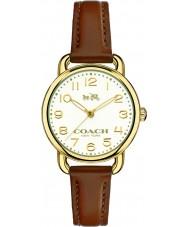 Coach 14502248 Ladies Delancey Brown Leather Strap Watch