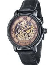 Thomas Earnshaw ES-8011-08 Mens Longcase Black Leather Strap Watch