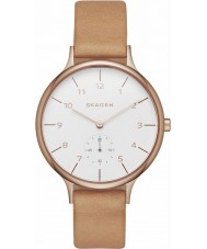 Skagen SKW2405 Ladies Anita Brown Leather Strap Watch