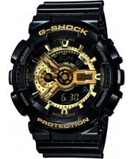 Casio GA-110GB-1AER Mens G-Shock Black Resin World Time Combi Watch