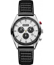 Barbour BB025WHBK Mens Boswell Black Leather Chronograph Watch