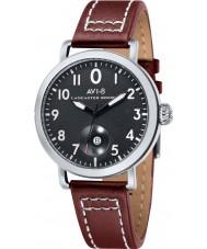 AVI-8 AV-4020-01 Mens Lancaster Bomber Brown Leather Strap Watch