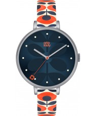 Orla Kiely OK2137 Ladies Ivy Cream Leather Strap Watch
