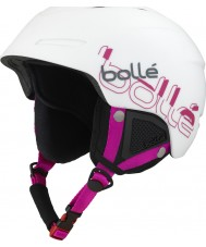 Bolle B-Yond White and Pink Ski Helmet