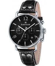 Thomas Earnshaw ES-8001-03 Mens Investigator Black Leather Chronograph Watch