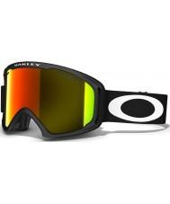 Oakley 59-084 02 XL Matte Black - Fire Iridium Ski Goggles