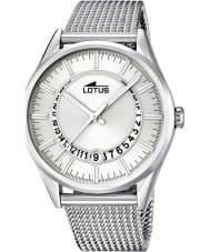 Lotus 15975-1 Mens Minimalist Silver Tone Steel Watch