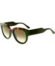 Marni Ladies ME600S Havana and Green Sunglasses