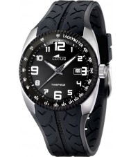 Lotus 15568-3 Mens Racing Black Rubber Watch