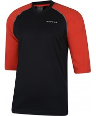 Dare2b Mens Dialed In Black Fiery Red Jersey T-Shirt