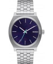 Nixon A045-230 Mens Time Teller Silver Steel Bracelet Watch