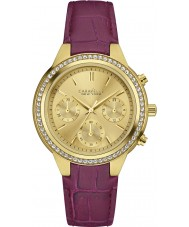 Caravelle New York 44L182 Ladies Boyfriend Purple Chronograph Watch