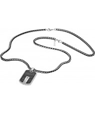 Police 25492PSB-01 Mens Hybrid Silver Steel Necklace