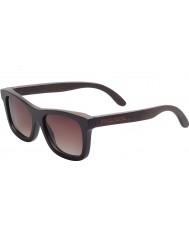Swole Panda Charcoal Polarized Bamboo Wayfarer Sunglasses