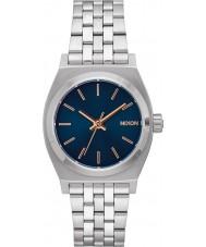 Nixon A1130-2195 Ladies Medium Time Teller Silver Watch