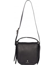 Modalu MH6145-BLACK Ladies Somerset Black Saddle Shoulder Bag