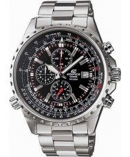 Casio EF-527D-1AVEF Mens Edifice Black Silver Chronograph Watch