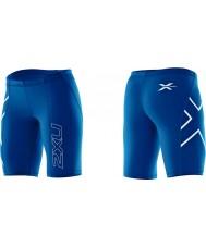 2XU WA1932B-RYB-L Ladies PWX Royal Blue Compression Shorts - Size L