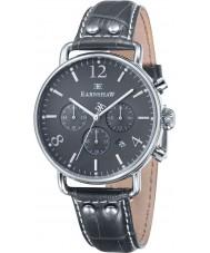 Thomas Earnshaw ES-8001-07 Mens Investigator Grey Leather Chronograph Watch