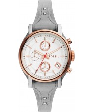 Fossil ES4045 Ladies Original Boyfriend Grey Leather Chronograph Watch