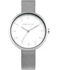 Karen Millen KM135SM Ladies Silver Steel Bracelet Watch