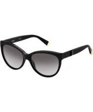 MaxMara Ladies MM Modern III 807 EU Black Sunglasses
