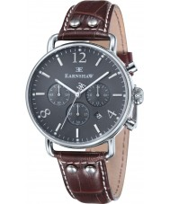Thomas Earnshaw ES-8001-04 Mens Investigator Brown Leather Chronograph Watch