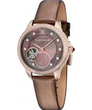 Chriselli Thomas Earnshaw Lady Australis Brown Satin Leather Strap Watch