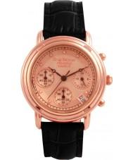 Krug Baümen 150577DL Principle Diamond Ladies Rose Gold Strap Watch