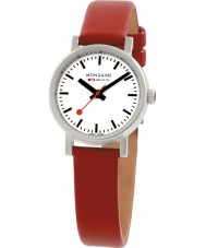 Mondaine A658-30301-11SBC Evo Petite Red Leather Strap Watch