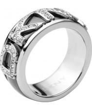 DKNY NJ1840040-508 Ladies Logo Silver Ring - Size P