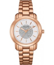 Bulova 97L147 Ladies Rose Gold Crystal Watch
