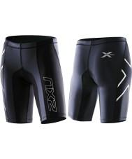 2XU WA1935B-BLK-L Ladies PWX Black Elite Compression Shorts - Size L