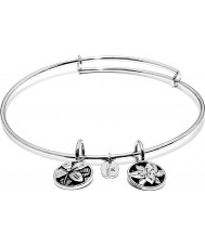 Chrysalis Blossom Rhodium Plated Expandable Bangle