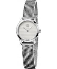 Calvin Klein K3M2312Y Ladies Minimal Silver Mesh Watch