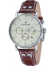 Thomas Earnshaw ES-8001-05 Mens Investigator Brown Leather Chronograph Watch