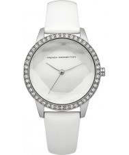 French Connection FC1215W Ladies Evelyn White Leather Strap Watch