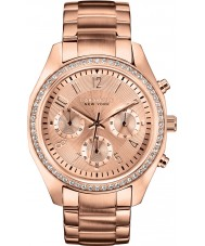 Caravelle New York 44L117 Ladies Melissa Rose Gold Chronograph Watch