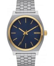 Nixon A045-1922 Mens Time Teller Silver Steel Bracelet Watch