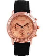Krug Baümen 150577DM Principle Diamond Mens Rose Gold Strap Watch