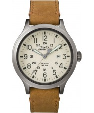 Timex TW4B06500 Mens Expedition Scout Tan Leather Strap Watch